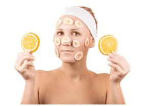 Maschera viso banana